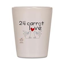 24 carrot love Shot Glass