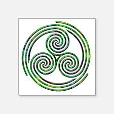 "Triple Spiral - 10 Square Sticker 3"" x 3"""