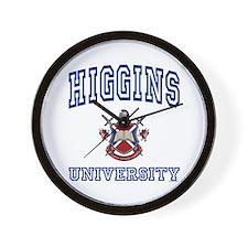 HIGGINS University Wall Clock