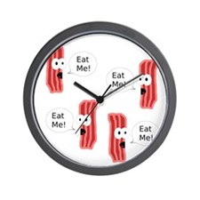Eat Me Bacon Wall Clock