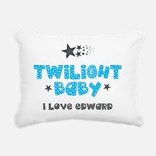 Twilight Baby Blue Rectangular Canvas Pillow