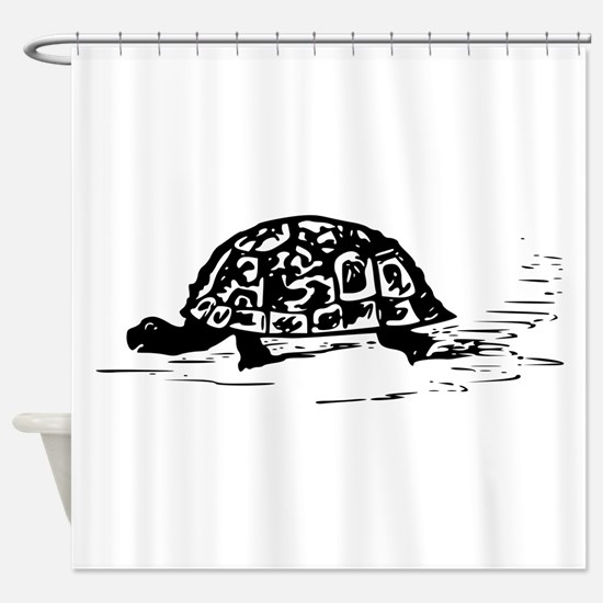 Tortoise Drawing Shower Curtain