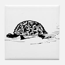 Tortoise Drawing Tile Coaster
