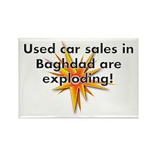 Baghdad Cars Rectangle Magnet