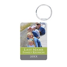 Family Reunion Photo Green Keychains