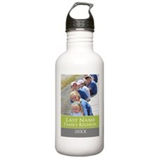 Family Reunion Photo Green Water Bottle