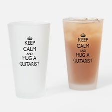 Keep Calm and Hug a Guitarist Drinking Glass