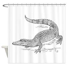 Crocodile Sketch Shower Curtain