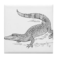Crocodile Sketch Tile Coaster