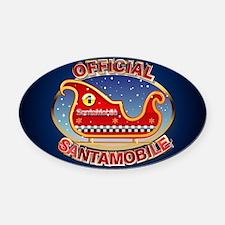 SantaMobile.png Oval Car Magnet