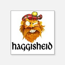 """10x10_apparel_haggisheid Square Sticker 3"""" x 3"""""""