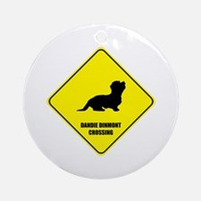 Dandie Crossing Ornament (Round)