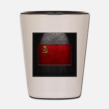 USSR Flag Stone Texture Shot Glass