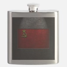 USSR Flag Stone Texture Flask