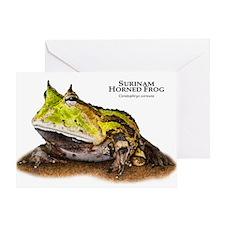 Surinam Horned Frog Greeting Card