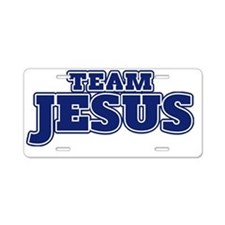 Team Jesus Aluminum License Plate