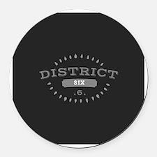 District 6 Round Car Magnet