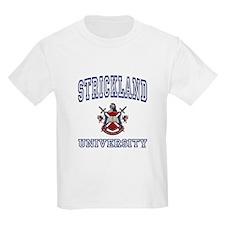 STRICKLAND University Kids T-Shirt