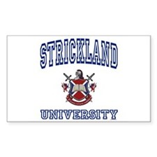 STRICKLAND University Rectangle Decal