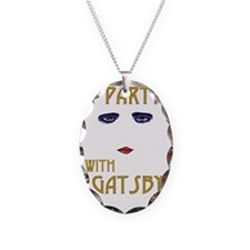 Party With Gatsby Necklace Oval Charm