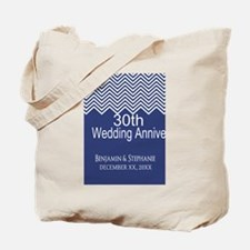 Wedding Anniversary Navy Tote Bag