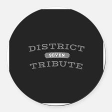 District 7 Tribute Round Car Magnet