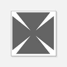 """Cross Formee Pattee - Grey Square Sticker 3"""" x 3"""""""