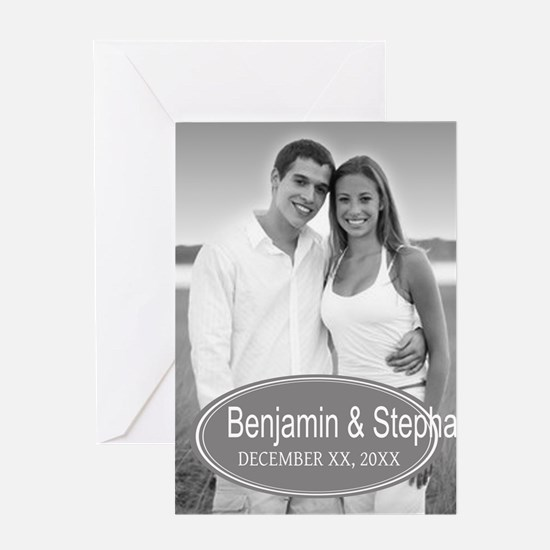 Wedding Photo Gray Greeting Cards