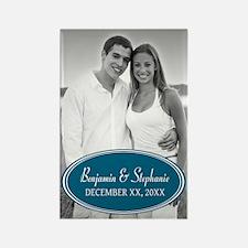 Wedding Photo Blue Magnets