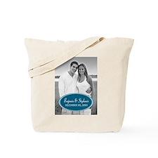 Wedding Photo Blue Tote Bag