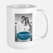 Wedding Photo Blue Mugs