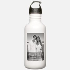 Wedding Photo Black White Water Bottle