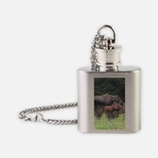 PhoneCase_moose_02 Flask Necklace