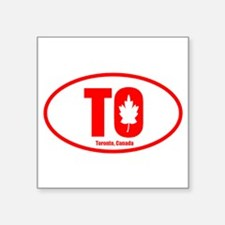 Toronto-Leaf Oval Sticker