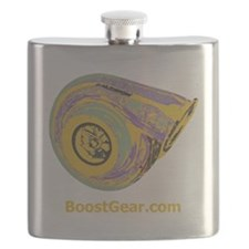 BoostGear - Big Turbo Simple On Black Flask
