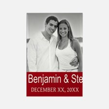 Wedding Photo Red Magnets