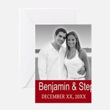 Wedding Photo Red Greeting Cards