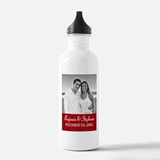 Wedding Photo Red Water Bottle