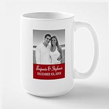 Wedding Photo Red Mugs