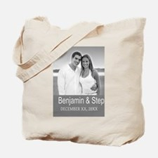 Wedding Photo Gray Tote Bag