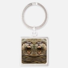 Otter Square Keychain
