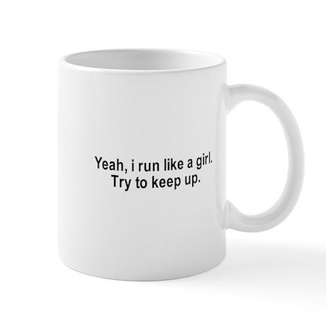 Yeah, I run like a girl. Try to keep up. / Gym hum