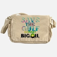 Save the Gulf-deport oil3 Messenger Bag