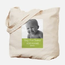 Baby Photo ustom Text Tote Bag