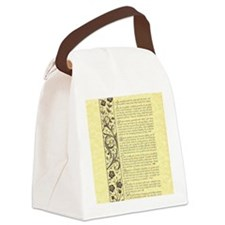 The Desiderata Poem by Max Ehrman Canvas Lunch Bag