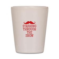STASHING thru the snow Shot Glass