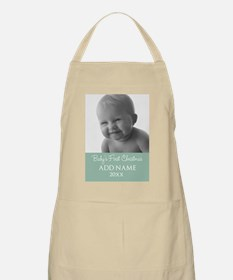 Add Baby Photo Mint Apron