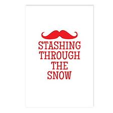 STASHING thru the snow Postcards (Package of 8)
