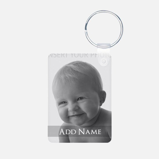Add Photo Modern Design Keychains