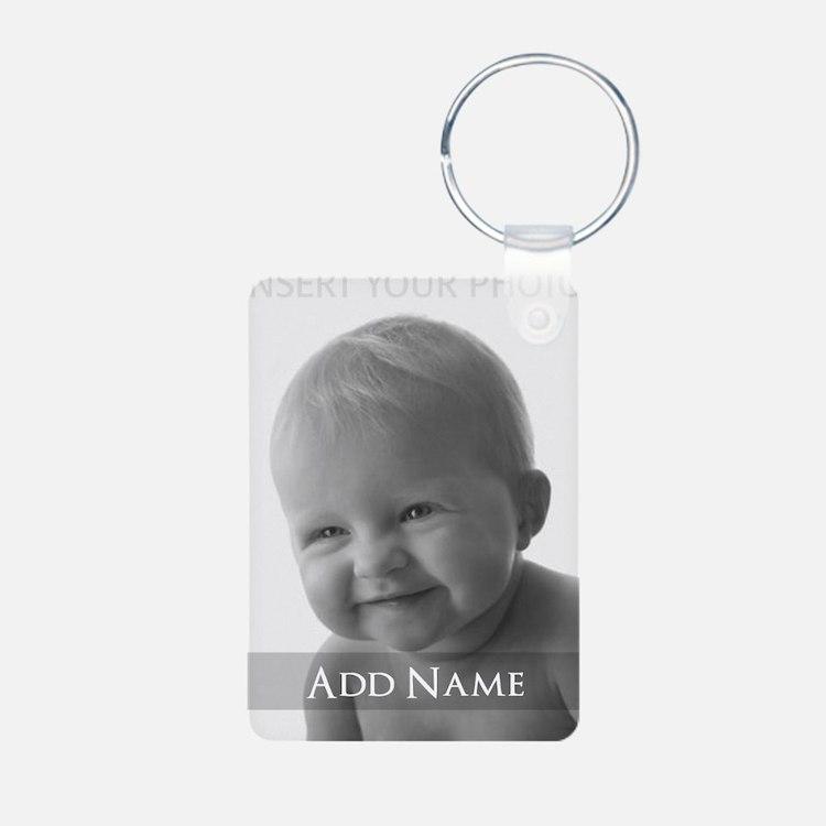 Add Photo Modern Design Keychains
